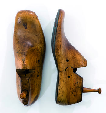 vintage wooden shoe last coat hooks