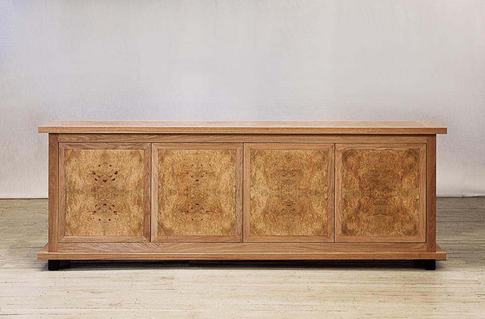 custom made oak cabinet